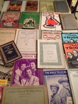 Vintage Sheet Music / Lot Of 21 / Roy Rogers My Fair Lady Andrews Sister... - $39.60
