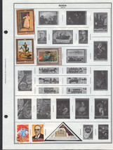 100 Russia 1980-1988 stamps including souvenir sheets - $9.79