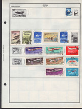 50 Russia stamps including airmail / occupation / offices abroad - $8.81