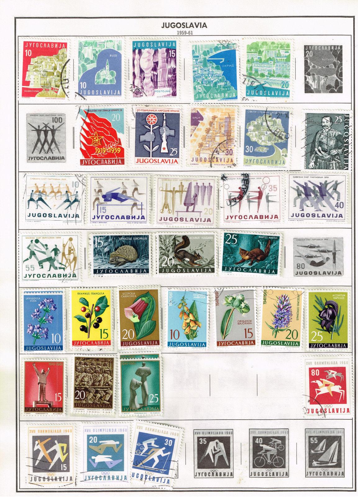 130+ Jugoslavia 1940-1961 stamps