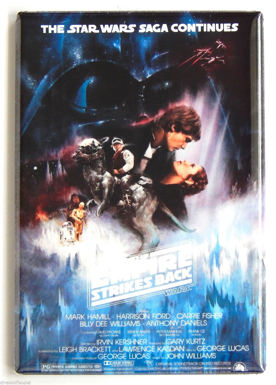 Empire strikes back movie poster magnet 2x3 inches