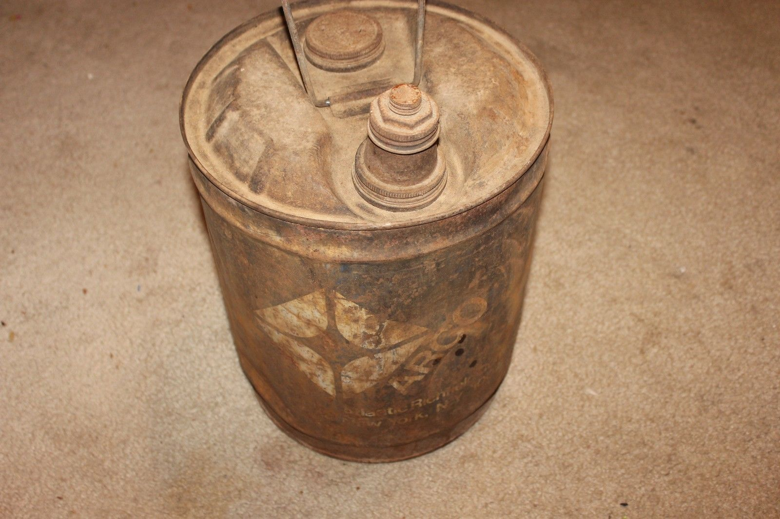 Vintage Atlantic Richfield Company 5 Gallon Metal Gas Can - ARCO 1971
