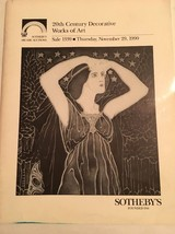 Sotheby's Auction Catalog / 20th Century Decorative Works Of Art / 1990 - $19.80
