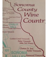 Sonoma County Wine Country Lithograph / Map Of Wineries - $24.75