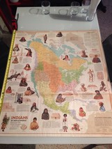 Indians Of North America / National Geographics / 1972 / Fold Out Poster - $19.80