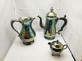 Vintage  Silverplate Tea set of 3 piece Creamer (F.B. Rogers) and Milk Jug - $49.50