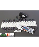 20x Storefront RGB multi color LED Light with UL Listed 12v 2A AC adapter - $42.56