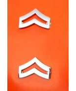 "CPL Chevron Pin Set Police Nickel 3/4"" Corporal Military Rank Insignia 3... - $15.49"