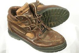 Timberland 38345 Brown Leather Moc Toe Lace-Up Ankle Boots Women's US 8.5 M - $33.50