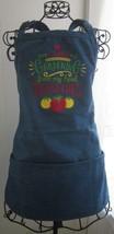 I Love Gardening Denim Bib 3 Pocket Restaurant Adjustable Neck Apron USA... - $48.97