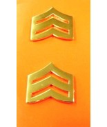 """SGT Chevron Rank Insignia Pin Set Police Gold Plated 1"""" Military Police ... - $15.49"""
