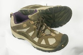 Keen 52016-BOSG Tan Purple Hiking Trail Sneakers Womens US 7 EU 37.5 - $39.50