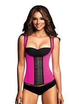 Ann Chery Women's 3 Hooks Body Shaper Latex Sport Vest Shapewear, Pink M/34 - $49.49
