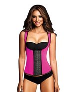 Ann Chery Women's 3 Hooks Body Shaper Latex Sport Vest Shapewear, Pink M/34 - $49.49