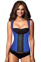 Ann Chery Women's 3 Hooks Body Shaper Latex Sport Vest Shapewear, Blue X... - $49.49