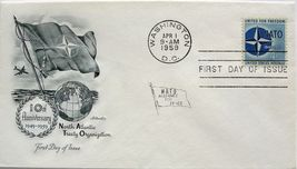 April 1, 1959 First Day of Issue, Artmaster Cover, NATO 10th Anniversary... - $2.38
