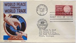April 20, 1959 First Day of Issue, Ken Boll Cover, World Peace/World Tra... - $2.24