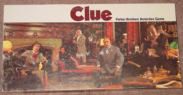 CLUE CLASSIC DETECTIVE GAME PARKER BROTHERS 1972 COMPLETE EXCELLENT wood... - $15.00