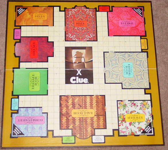 CLUE CLASSIC DETECTIVE GAME PARKER BROTHERS 1972 COMPLETE EXCELLENT wood tokens