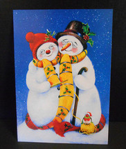 Mr & Mrs Snowman Tree Free Greetings 8 Christmas Cards w/Matching Envelopes - $7.91