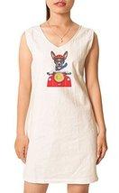 Vietsbay Women Dog and motorbike Printed Vintage Mini Shift Dress WDS_02... - $29.90