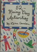 52 Rainy Day Activities  Playing Cards, by Lynn Gordon, Illustrated, New - $2.95