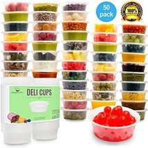 Plastic Food Storage Containers With Lids - Restaurant Deli Cups / Food... - €31,16 EUR