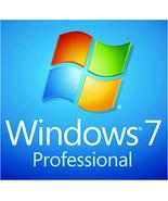 Microsoft Windows 7 Professional Pro - 32/64-bit Key With Download - $7.50