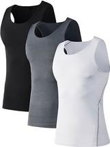 Men's Athletic Vests Fitness Compression Under Base Layer Sport Tank Top  - $13.81