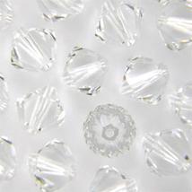 8mm Crystal Swarovski Xilion Beads 5328, 48 clear bicone - $10.50