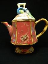 Tracy Porter Tea Pot  ARTESIAN ROAD Collection Burgundy Peacock Tea Pot  - $37.04