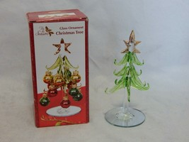 Blown Glass Ornament Christmas Tree  - $9.90
