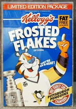 1992 Kelloggs Frosted Flakes Pittsburgh Penguins Stanley Cup Champs Cere... - $29.99