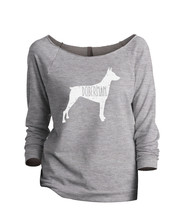Thread Tank Doberman Dog Silhouette Women's Slouchy 3/4 Sleeves Raglan S... - $24.99+