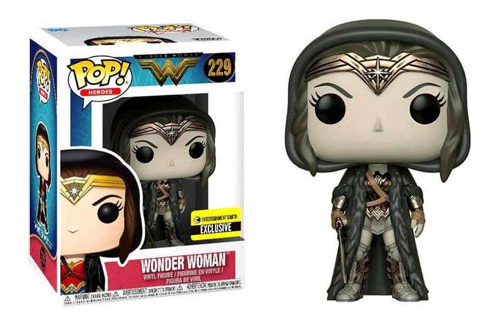 Wonder Woman Movie Cloak Sepia Pop! Vinyl Figure #229 - EE Exclusive 3 3/4