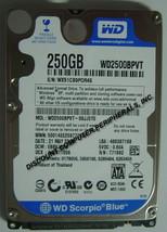 NEW 250GB WD WD2500BPVT SATA 2.5 inch 9.5MM Hard Drive Free USA Shipping