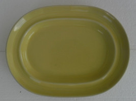 Vintage Signature Carnivale Pastel Yellow Color Stoneware Oval Serving P... - $34.95