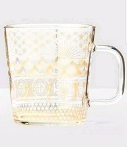 2017 Golden Sea Pattern Anniversary Collection Glass Mug 14 Oz - $33.00