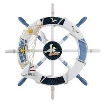 Nautical Wheel Wall Decor  Boat Steering Wheel with Alete Nails - $39.99