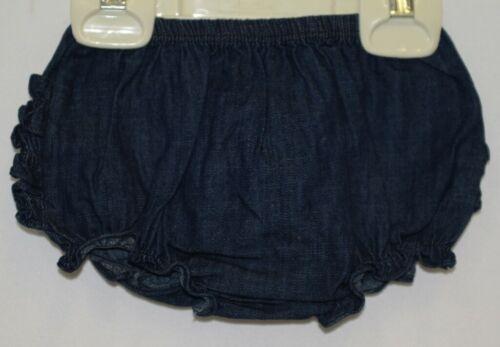 RuffleButts RBDMB030000 Faux Denim Knit RuffleButt Bloomer Size 6 to 12 Months