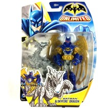 Batman Unlimited Batman and Skyfire Dragon Action Figure 2014 Mattel Sealed - $9.85
