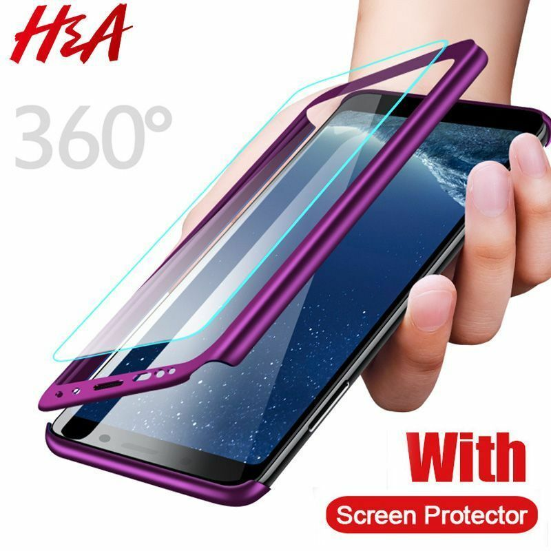 Full Cover Phone Case For Samsung Galaxy S9 S8 Plus S7 S6 Edge Screen Protector