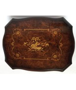 Lacqured Brown Violin Mirrored Wooden Jewelry Box - $199.99