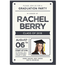 Ivory Custom Photo Graduation Invitation - $25.25