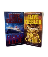 Flood Tide and Inca Gold by Clive Cussler Paperback Book Lot of 2  - $9.89