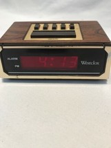 Westclox 22644 Retro Wood Grain LED Alarm Clock, 0.6-Inch Digital Tested F - $11.50