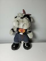 Harley Davidson Plush Bulldog Stuffed Animal Biker Puppy Dog Gray - $14.84