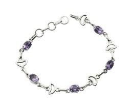 Fashion 925 sterling silver Amethyst Bracelets Women Jewelry FMU26JJB10 - $54.47 CAD