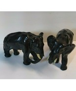 Antique Black Metal Pair Elephant Statues Doorstops Ronson Jennings 1920... - $247.50