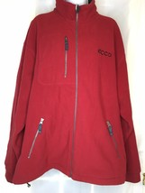 Page & Tuttle Red Fleece Jacket  Athletic Golf  Outerwear Embrodered ECC... - $21.00